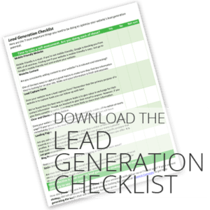 Download the lead checklist that will help you capture more leads!