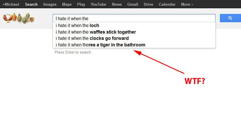 Sometimes you'll be surprised at the long tail keyword that shows up in that search suggestion.