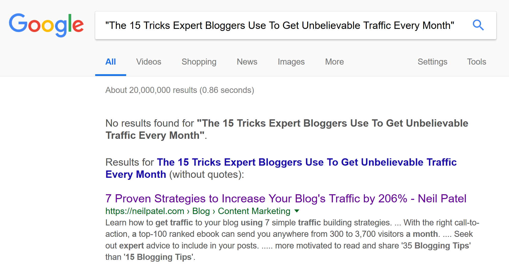 This blog title has no GOogle competition, which means it will likely get a better search ranking.
