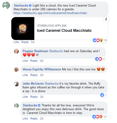 At least Starbucks listens and comments back.